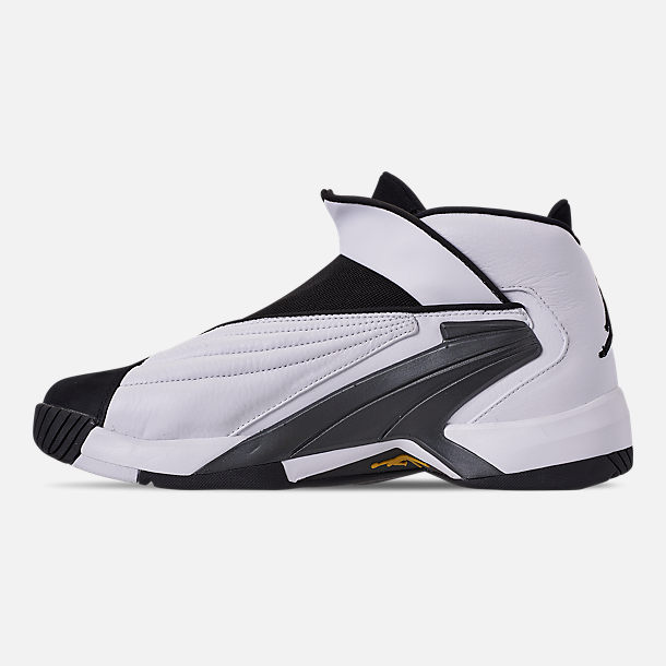 Left view of Men's Jordan Jumpman Swift 23 Basketball Shoes in White/Tour Yellow/Black