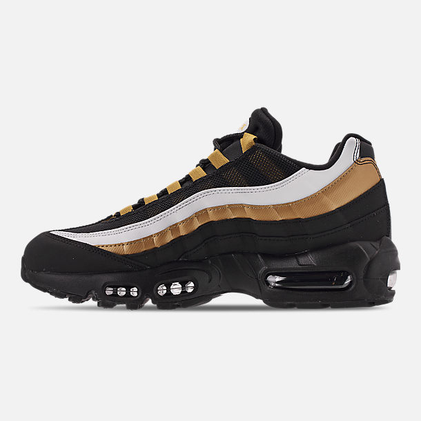 quality design 618b7 d06a7 Left view of Men's Nike Air Max 95 OG Casual Shoes in Black/Metallic Gold