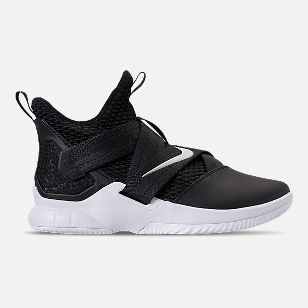 136e8990902 shopping right view of mens nike lebron soldier 12 tb basketball shoes in  black metallic silver