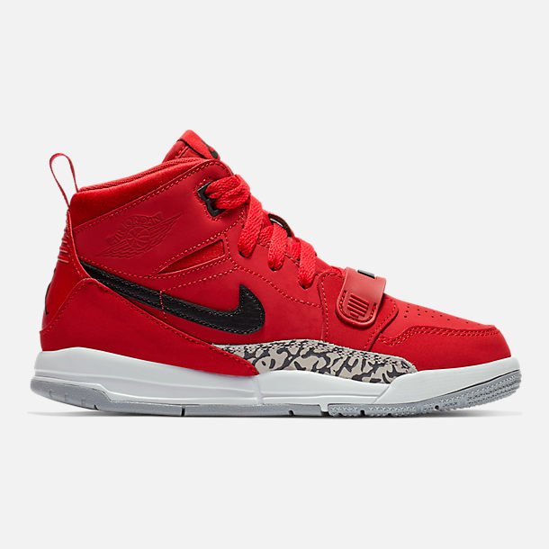 Right view of Boys' Little Kids' Air Jordan Legacy 312 Off-Court Shoes in Varsity Red/Black/White