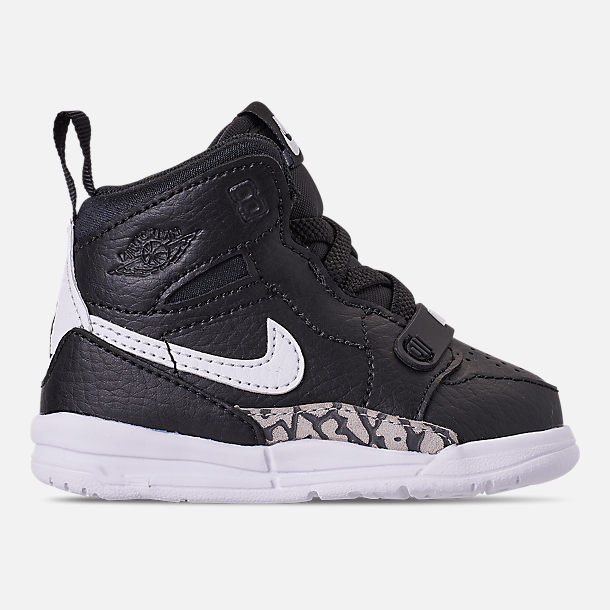 Right view of Boys' Toddler Air Jordan Legacy 312 Off-Court Shoes in Black/White