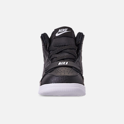Front view of Boys' Toddler Air Jordan Legacy 312 Off-Court Shoes in Black/White