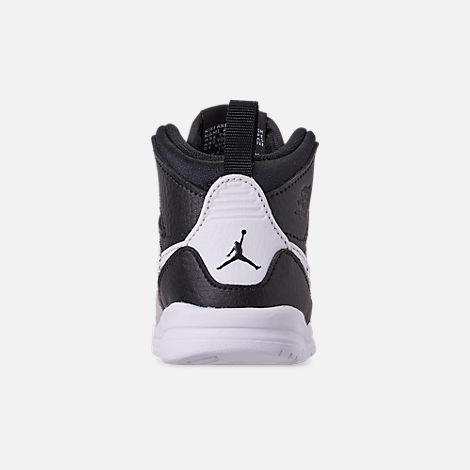 Back view of Boys' Toddler Air Jordan Legacy 312 Off-Court Shoes in Black/White