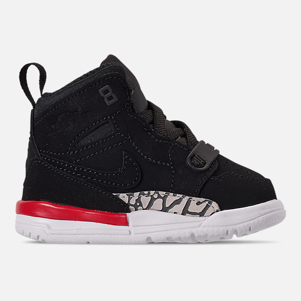 Right view of Boys' Toddler Air Jordan Legacy 312 Off-Court Shoes in Black/Black/Fire Red