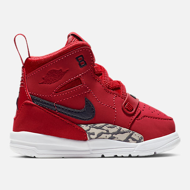 Right view of Boys' Toddler Air Jordan Legacy 312 Off-Court Shoes in Varsity Red/Black/White
