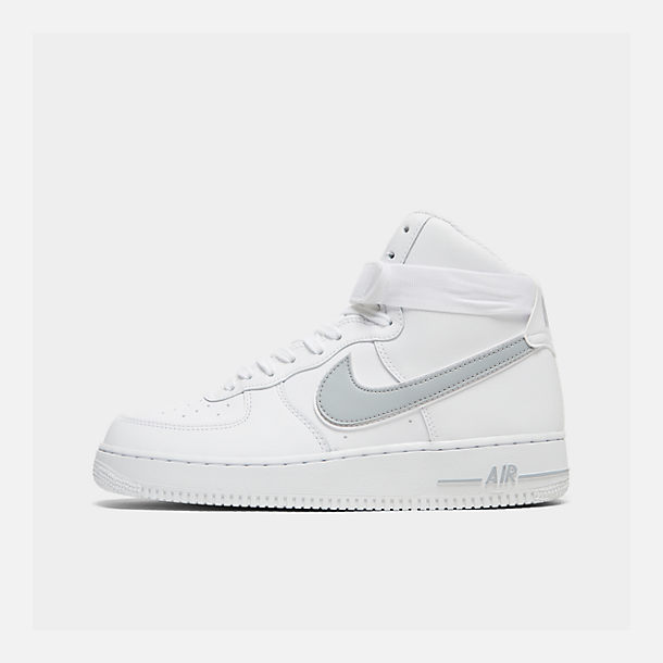 Right view of Men's Nike Air Force 1 High '07 3 Casual Shoes in White/Wolf Grey