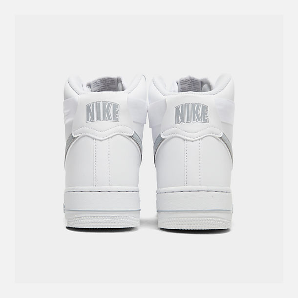 Left view of Men's Nike Air Force 1 High '07 3 Casual Shoes in White/Wolf Grey