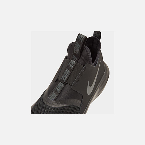 Front view of Boys' Big Kids' Nike Flex Runner Running Shoes in Black/Anthracite
