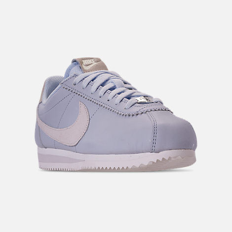 36c7608107a Three Quarter view of Women s Nike Classic Cortez 90 Premium Casual Shoes  in Half Blue