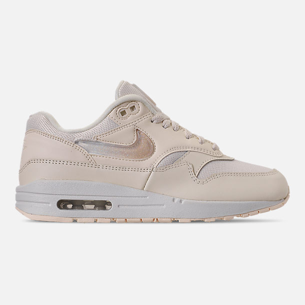 Right view of Women's Nike Air Max 1 JP Casual Shoes in Pale Ivory/Summit White/Guava Ice