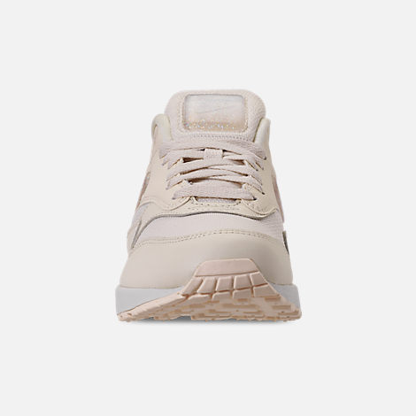 Front view of Women's Nike Air Max 1 JP Casual Shoes in Pale Ivory/Summit White/Guava Ice