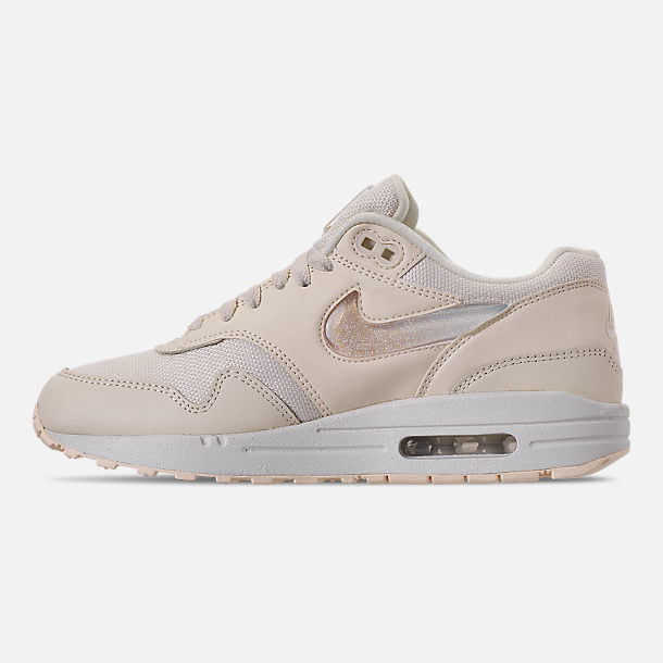 Left view of Women's Nike Air Max 1 JP Casual Shoes in Pale Ivory/Summit White/Guava Ice