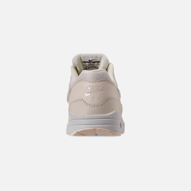 Back view of Women's Nike Air Max 1 JP Casual Shoes in Pale Ivory/Summit White/Guava Ice