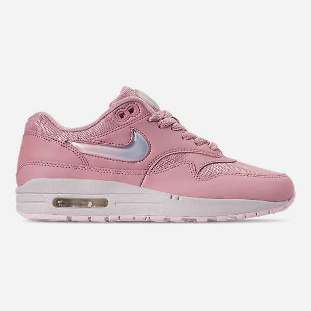 Right view of Women s Nike Air Max 1 JP Casual Shoes in Plum Chalk Obsidian 17319a446