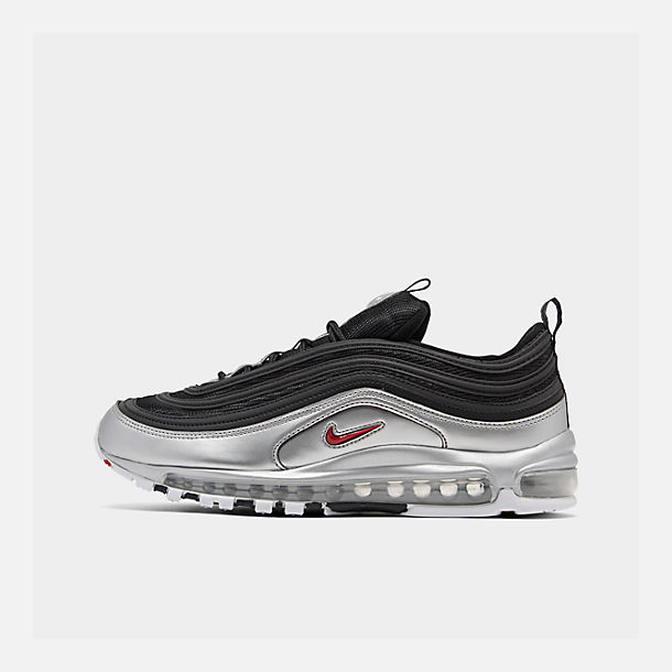 a06ae457915c4 Right view of Men's Nike Air Max 97 QS Casual Shoes in Black/Varsity Red