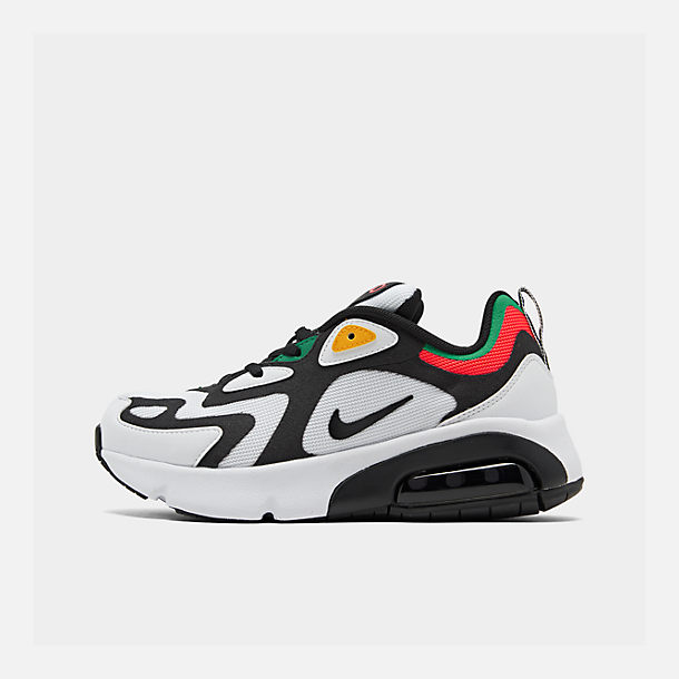 Right view of Boys' Big Kids' Nike Air Max 200 Casual Shoes in White/Black/Bright Crimson