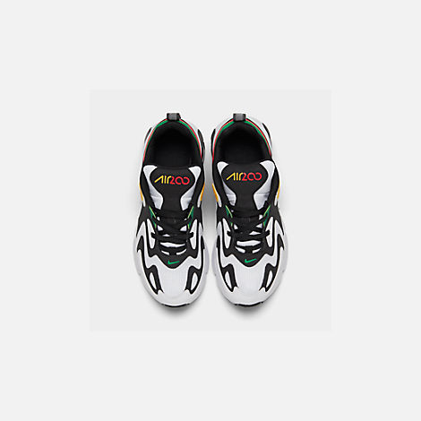 Back view of Boys' Big Kids' Nike Air Max 200 Casual Shoes in White/Black/Bright Crimson