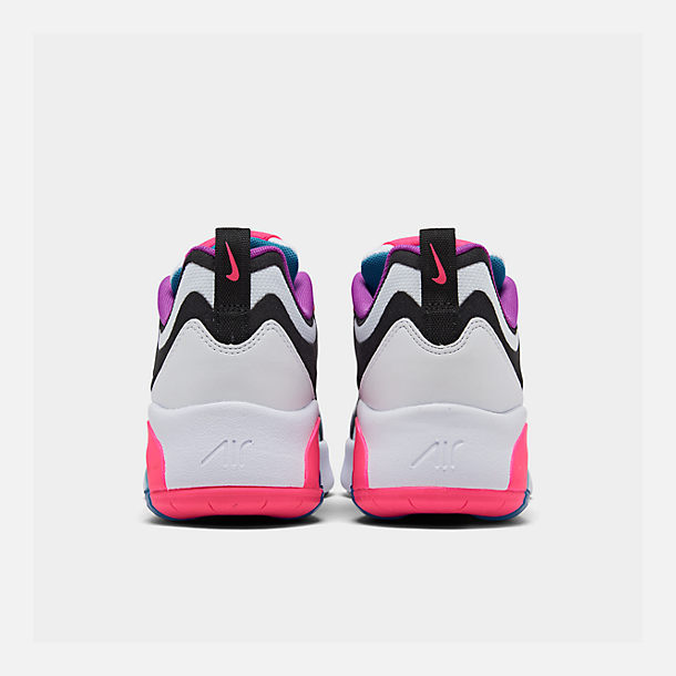 Left view of Girls' Big Kids' Nike Air Max 200 Casual Shoes in White/Black/Hyper Pink/Photo Blue