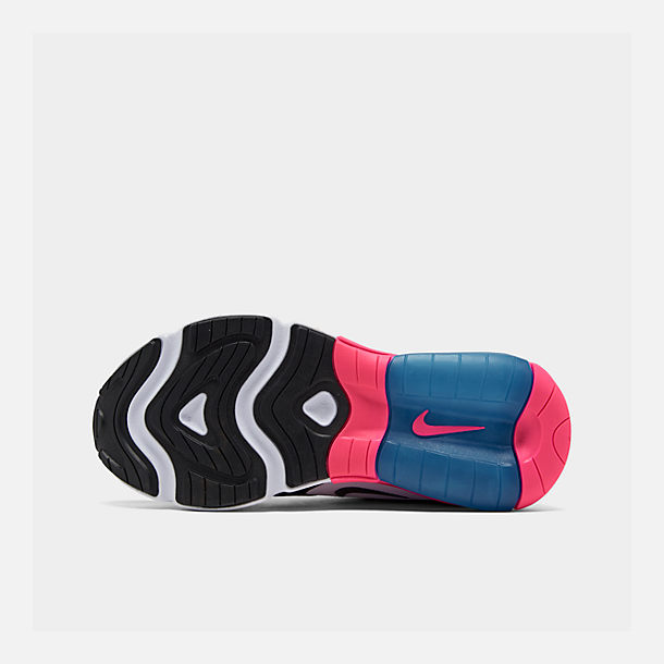 Bottom view of Girls' Big Kids' Nike Air Max 200 Casual Shoes in White/Black/Hyper Pink/Photo Blue