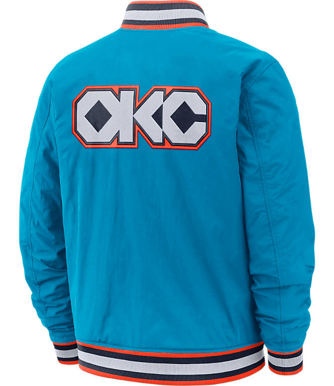 Product 3 view of Men's Nike Oklahoma City Thunder NBA Courtside Jacket in Blue