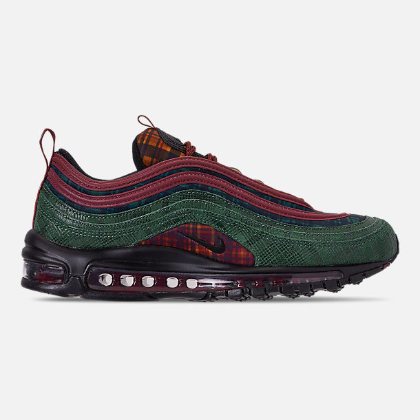 Right view of Men's Nike Air Max 97 NRG Casual Shoes in Team Red/Midnight Spruce