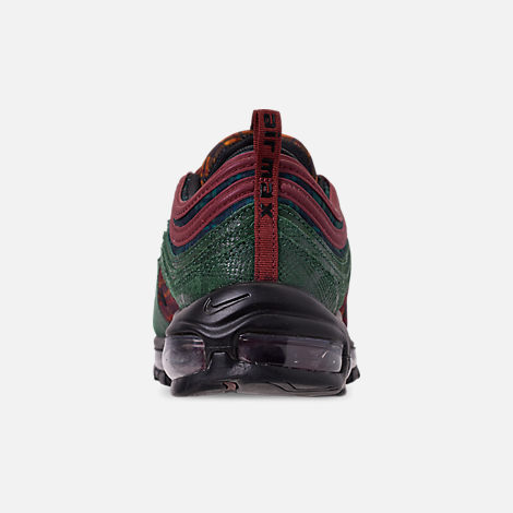Back view of Men's Nike Air Max 97 NRG Casual Shoes in Team Red/Midnight Spruce