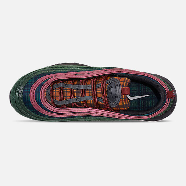 Top view of Men's Nike Air Max 97 NRG Casual Shoes in Team Red/Midnight Spruce