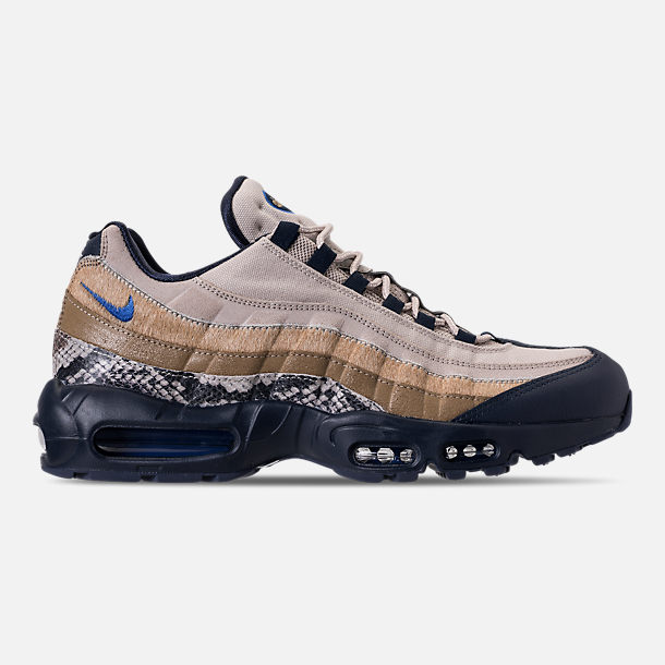 Right view of Men's Nike Air Max 95 SOF Casual Shoes in Newsprint/Blue Hero/String/Canteen