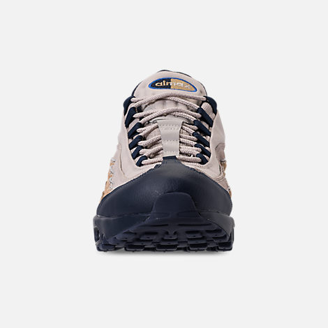 Front view of Men's Nike Air Max 95 SOF Casual Shoes in Newsprint/Blue Hero/String/Canteen