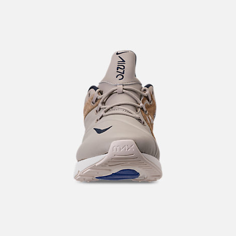 Front view of Men's Nike Air Max 270 SOF Casual Shoes in Obsidian/Hyper Royal/Sail/String