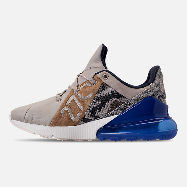 Left view of Men's Nike Air Max 270 SOF Casual Shoes in Obsidian/Hyper Royal/Sail/String