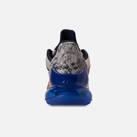 Back view of Men's Nike Air Max 270 SOF Casual Shoes in Obsidian/Hyper Royal/Sail/String