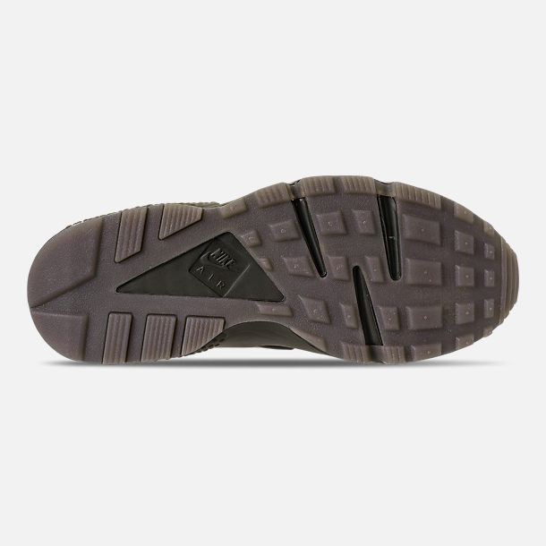 huge discount 9d79b ca2d8 Bottom view of Mens Nike Air Huarache Run Camo Casual Shoes in Cargo  KhakiVolt