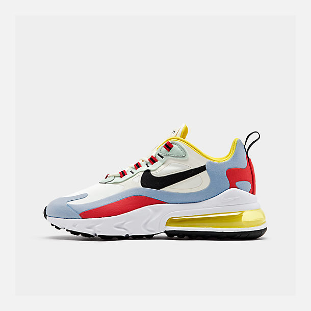 Right view of Women's Nike Air Max 270 React Casual Shoes in Phantom/Black/Light Blue/Univ Red/Dyna