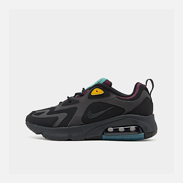 Right view of Women's Nike Air Max 200 Casual Shoes in Black/Anthracite/Bordeaux/Univ Gold