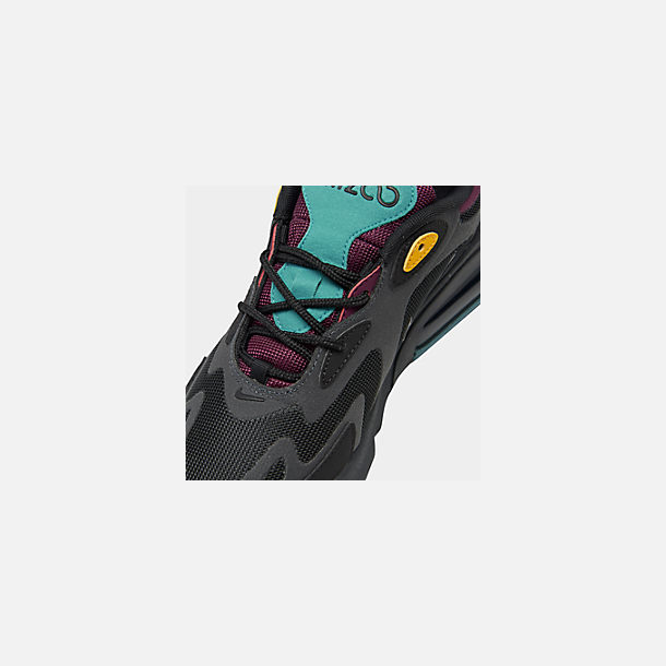 Front view of Women's Nike Air Max 200 Casual Shoes in Black/Anthracite/Bordeaux/Univ Gold