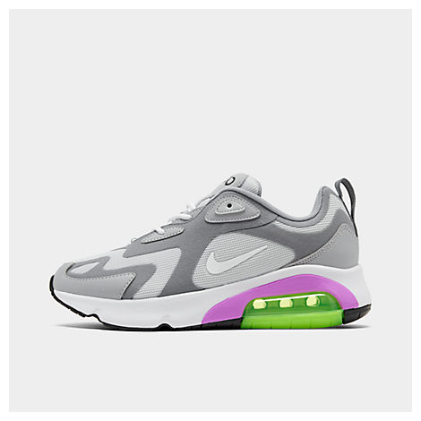 Nike Women's Air Max 200 Casual Shoes In Grey Size 11.0