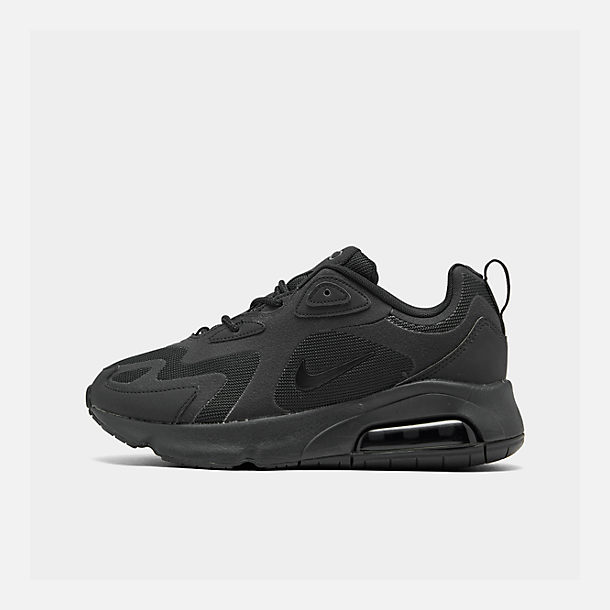 Right view of Women's Nike Air Max 200 Casual Shoes in Black/Black