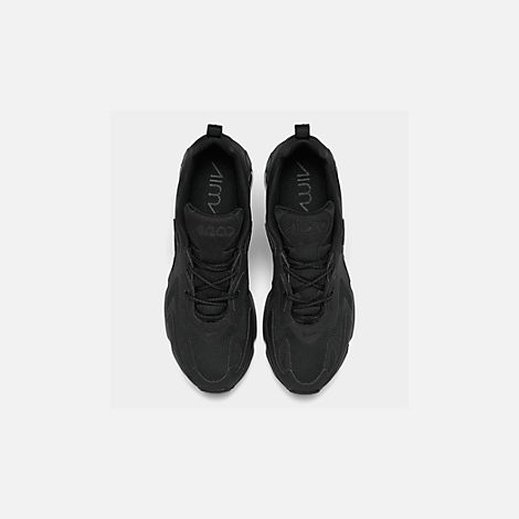 Back view of Women's Nike Air Max 200 Casual Shoes in Black/Black