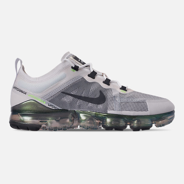 31fe8ddf48d Right view of Men s Nike Air VaporMax 2019 Premium Running Shoes in White  Dark Grey