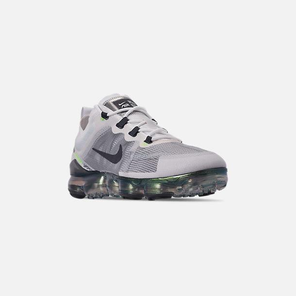 2b91cfea3a Three Quarter view of Men's Nike Air VaporMax 2019 Premium Running Shoes in  White/Dark