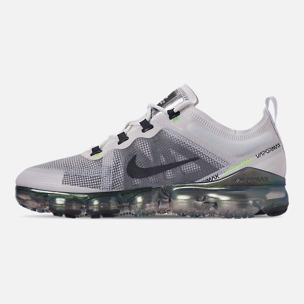 93a0474404 Left view of Men's Nike Air VaporMax 2019 Premium Running Shoes in  White/Dark Grey