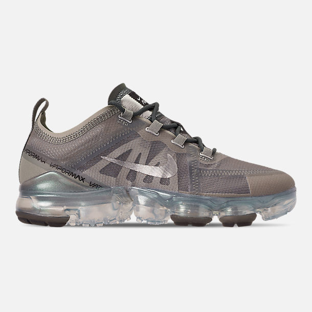 Right view of Women's Nike Air VaporMax 2019 Premium Running Shoes in Mineral Spruce/Metallic Silver/Spruce