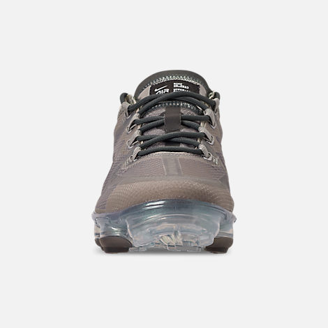 Front view of Women's Nike Air VaporMax 2019 Premium Running Shoes in Mineral Spruce/Metallic Silver/Spruce