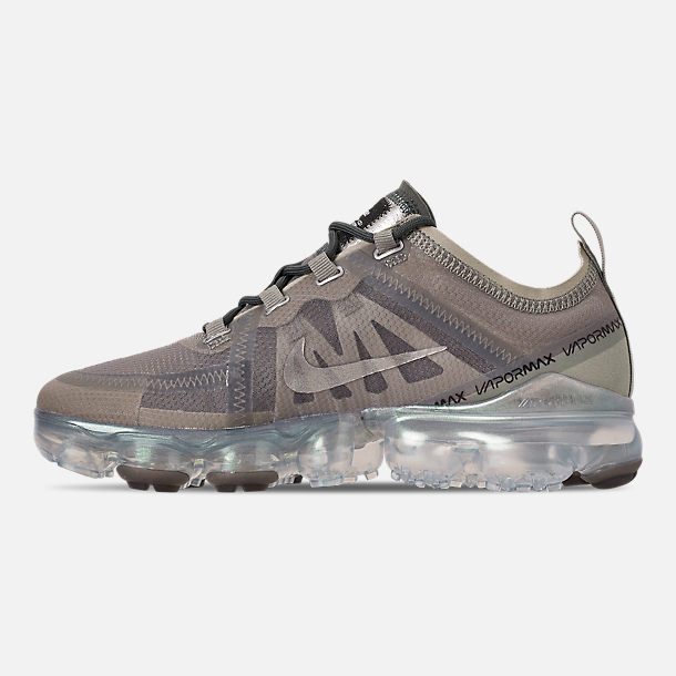 Left view of Women's Nike Air VaporMax 2019 Premium Running Shoes in Mineral Spruce/Metallic Silver/Spruce