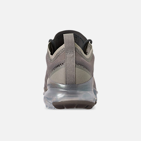 Back view of Women's Nike Air VaporMax 2019 Premium Running Shoes in Mineral Spruce/Metallic Silver/Spruce