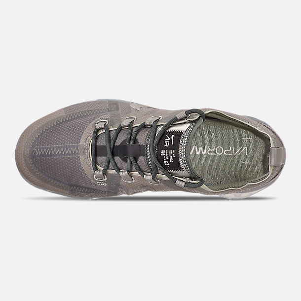 Top view of Women's Nike Air VaporMax 2019 Premium Running Shoes in Mineral Spruce/Metallic Silver/Spruce