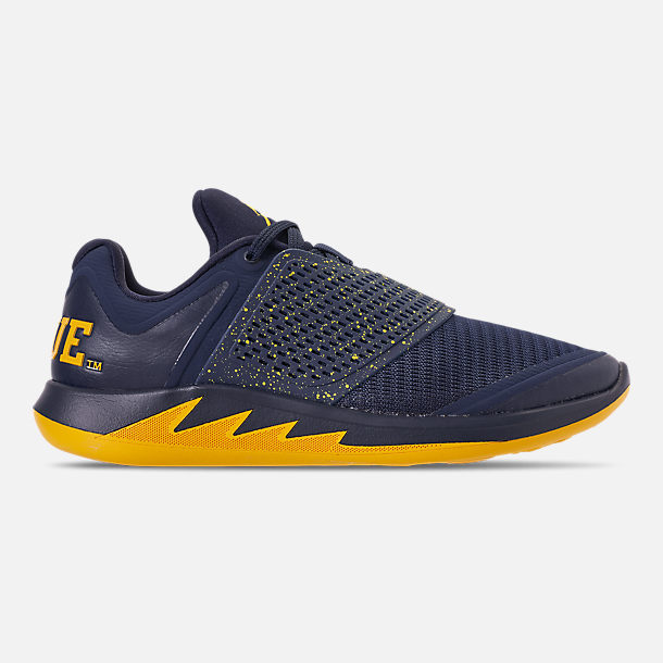 231311727070a8 Right view of Men s Jordan Grind 2 Michigan Wolverines Running Shoes in  College Navy Amarillo