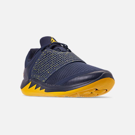 c5288b542fef3f Three Quarter view of Men s Jordan Grind 2 Michigan Wolverines Running  Shoes in College Navy