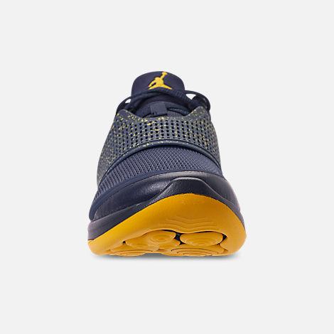 705193454656eb Front view of Men s Jordan Grind 2 Michigan Wolverines Running Shoes in  College Navy Amarillo